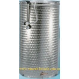 Емкость нержавеющая с плавающей крышкой, пневматическая 150 л