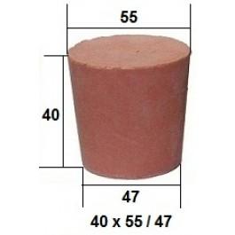 Коническая пробка из резины, для технических целей 40 х 55 / 47 мм