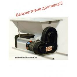 Дробилка виноградная с гребнеотделителем электро, эмаль