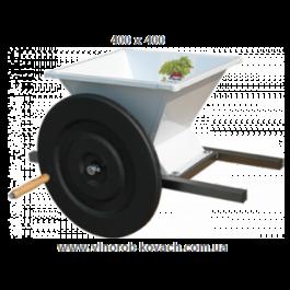 Дробилка для  винограда, ручная, эмалированная  400х400
