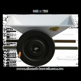Дробилка для винограда эмалированная, ручная,  800х500