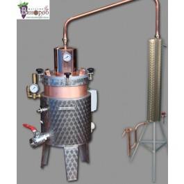 Дистилляционный апарат (аламбик) ручной работы, 25 л