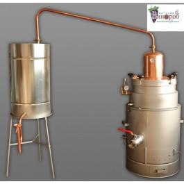 Дистилляционный апарат (аламбик) ручной работы, 50 л