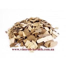 Дубовые чипсы (щепа), крупная фракция, 500гр