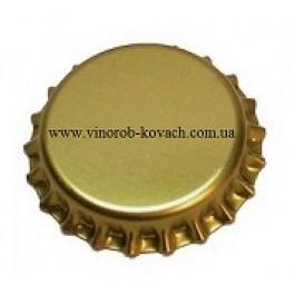 Кронен - пробка 29 мм с бидюлем золото, 100 шт