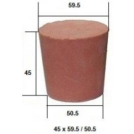 Коническая пробка из резины, для технических целей 45 х 58 / 50 мм