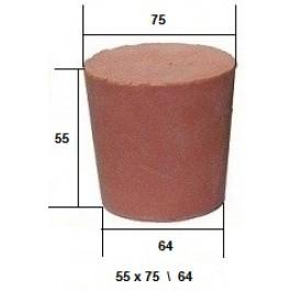 Коническая пробка из резины, для технических целей 55 х 75 / 64 мм