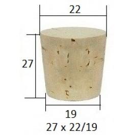 Коническая пробка из натурального корка 28.5x23.5/18.5 мм