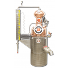 Двустенный дистилляционный медный котел «DeLux» на 150 л