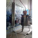 Дистилляционный аппарат (аламбик) ручной работы c аромошляпой и электромешалкой, 150л